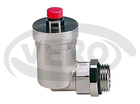 Automatyczny kątowy zawór odpowietrzający do grzejników z o-ringiem - art. 519