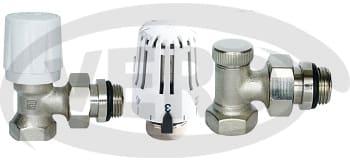Zawór termostatyczny + Zawór odcinający +Głowica termostatyczna 130 Pintossi