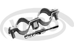 Obejma metalowa podwójna z kołkiem rozporowym bez uszczelki, ocynkowana