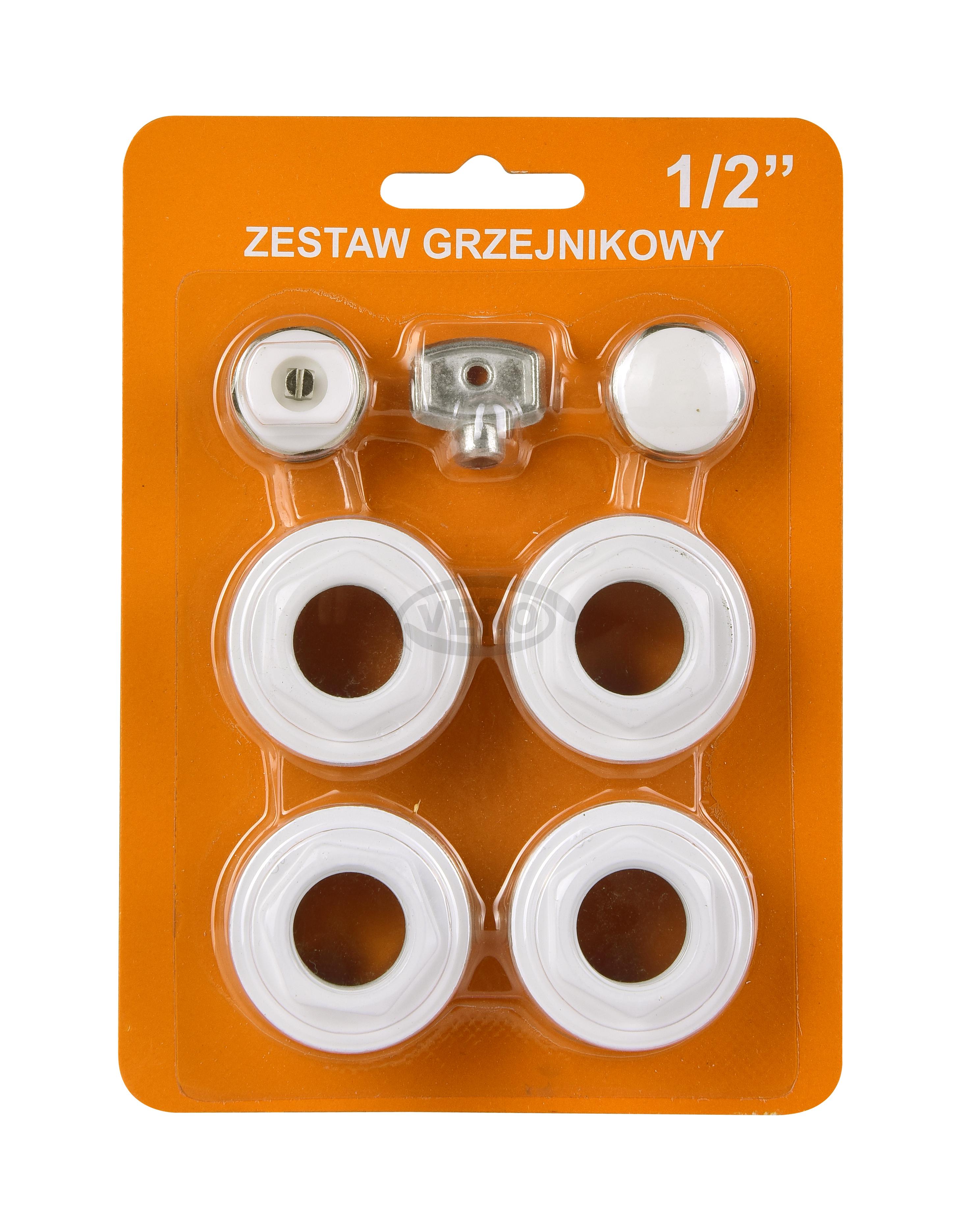 Pakiet Korków Grzejnikowych z Uszczelką Silikonową + Metalowy kluczyk