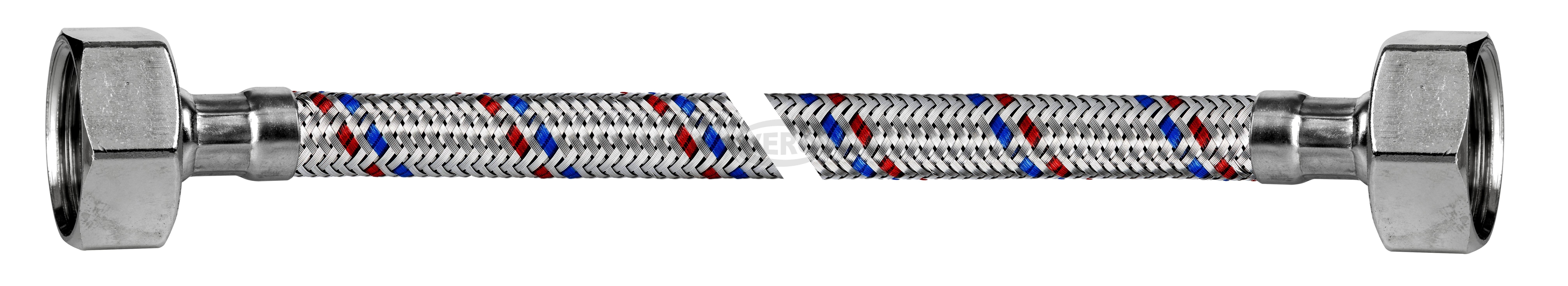 """Przyłącze elastyczne w oplocie stalowym INOX 3/4"""" GW - 3/4"""" GW"""
